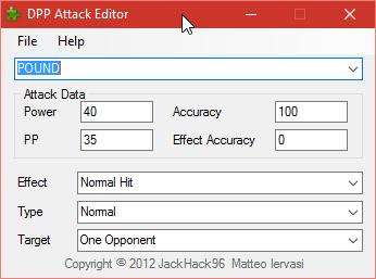 DPP Attack Editor – Hack Rom Tools